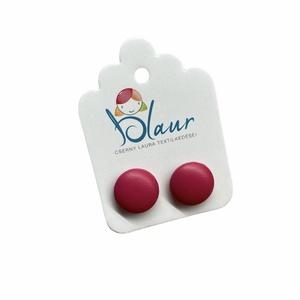 Pink Bedugós textilbőr gombfülbevaló nikkelmentes mini, Ékszer, Fülbevaló, Pötty fülbevaló, Ékszerkészítés, Meska