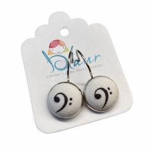 Basszuskulcs franciakapcsos gombfülbevaló, Ékszer, Fülbevaló, Lógó fülbevaló, A termék megnevezése: Gomb fülbevaló.    Mérete: a gomb átmérője 1,2cm  Termék leírás: A fülbevalók ..., Meska
