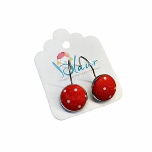 Pöttyös franciakapcsos gombfülbevaló, Ékszer, Fülbevaló, Lógó fülbevaló, A termék megnevezése: Gomb fülbevaló.    Mérete: a gomb átmérője 1,2cm  Termék leírás: A fülbevalók ..., Meska