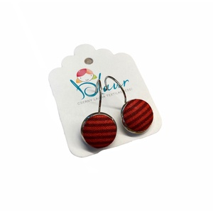 Csíkos franciakapcsos gombfülbevaló, Ékszer, Fülbevaló, Lógó fülbevaló, A termék megnevezése: Gomb fülbevaló.    Mérete: a gomb átmérője 1,2cm  Termék leírás: A fülbevalók ..., Meska