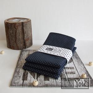 VintageHome Sorozat - pöttyös textil szalvéta + gyűrű, Konyhafelszerelés, Otthon & lakás, Lakberendezés, NoWaste, Textilek, Festett tárgyak, Varrás, Varázsold a megterített asztalt egyedivé és otthonossá!\nBiztos minden családtag örül egy saját, kell..., Meska