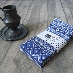 Skandináv kék csíkos textil szalvéta - 2 db, Otthon & lakás, NoWaste, Lakberendezés, Konyhafelszerelés, Dekoráció, Festett tárgyak, Varrás, A skandináv stílus kedvelőinek készült ez a kék csíkos 100% pamut szalvéta. A rusztikus otthon eleng..., Meska