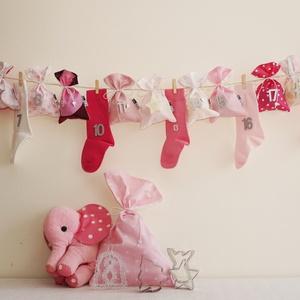 INGYEN POSTA! PINK, rózsaszín királylányos ADVENTI kalendárium, naptár kislányoknak (Blessyou) - Meska.hu