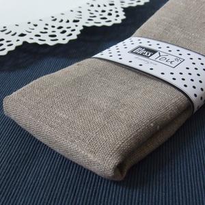 Környezetbarát natúr bézs LENVÁSZON szalvéta - 2 db, Otthon & lakás, NoWaste, Textilek, Dekoráció, Egyszerű, letisztult. Soha nem megy ki a divatból.. A textilszalvéták különleges, ötletes és egyedi ..., Meska