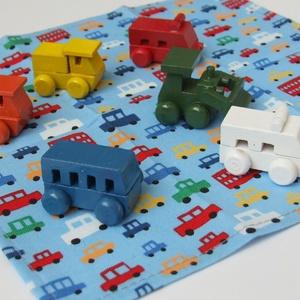 Autós textilzsebkendő kisfiúknak - vidám színekben, Gyerek & játék, NoWaste, Textilek, Minden kisfiú odavan a kisautókért. Lepd meg ezzel a vidám, színes autós zsepi szettel ŐT:)! Megláto..., Meska