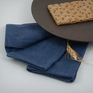 Melange denim blue LENVÁSZON szalvéta - 2 db, Otthon & lakás, NoWaste, Dekoráció, Konyhafelszerelés, Textilek, Egyszerű, letisztult. Rusztikus, egyben elegáns hangulatú. A textilszalvéták különleges, ötletes és ..., Meska