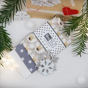 Karácsonyi ZEROWASTE ajándék, szarvassal, NoWaste, Textilek, Kendő, Férfiaknak, Táska, Divat & Szépség, Ruha, divat, Varrás, Hímzés, Te már tettél lépéseket a hulladékcsökkentés irányában? Vannak jó tapasztalataid, sikerélményed?\nSeg..., Meska