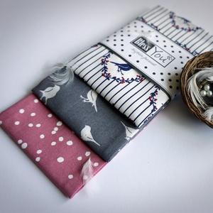 ANYÁK NAPI Vintage madárkák - textilzsebkendő, NoWaste, Táska, Divat & Szépség, Textilek, Kendő, ANYÁK NAPJÁRA ajánlom ezt a vintage madárkás puha zsebkendő szettet!  A csomag három darab zsebkendő..., Meska