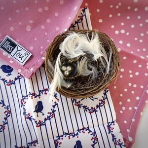 ANYÁK NAPI Vintage madárkák - textilzsebkendő (Blessyou) - Meska.hu