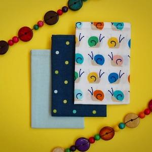 CUKI CSIGÁK!!! pihe-puha zsebkendő, NoWaste, Textilek, Kendő, Gyerek & játék, Varrás, Hímzés, CUKI CSIGÁK!!!\nEzek a kicsi zsebkendők a legkisebb zsebbe is beleférnek! Rendkívül praktikusak és so..., Meska
