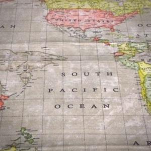 Történelemtanároknak, földrajztanároknak ajándék - szájmaszk, Maszk, Arcmaszk, Történelemtanároknak, földrajztanároknak kedves és praktikus ajándék ez a mosható, térkép mintás tex..., Meska