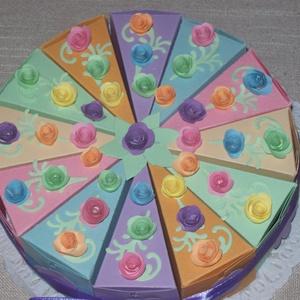 Pénzajándék átadó torta- pasztell mini, Nászajándék, Emlék & Ajándék, Esküvő, Papírművészet, Születésnapra, névnapra, ballagásra, nászajándék átadására, bármilyen alkalomra érdekes meglepetés. ..., Meska