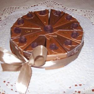 Pénzajándék átadó torta - csokoládé, mini - Meska.hu