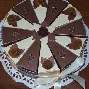Pénzajándék átadó torta  - csoki-vanília, mini - Meska.hu
