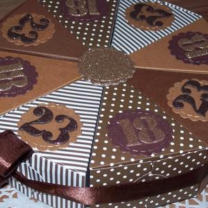Pénzajándék átadó torta - Kettős születésnap, közepes , Nászajándék, Emlék & Ajándék, Esküvő, Papírművészet, Ez a torta egy különleges fiú testvérpár születésnapi meglepetéseit rejtette, akik különböző évben, ..., Meska