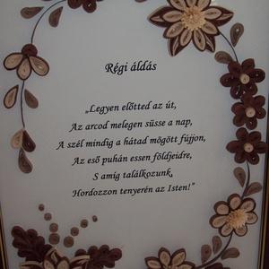 Régi áldás - falikép - Meska.hu