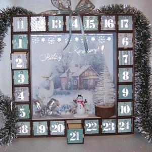 Adventi kalendárium - csillagfényes éjszaka, Adventi naptár, Karácsony & Mikulás, Otthon & Lakás, Mindenmás, Romantikus életkép adventi kalendáriumon, csillagfényes téli éjszaka. \nIgazi békebeli hangulat!\n\nMin..., Meska