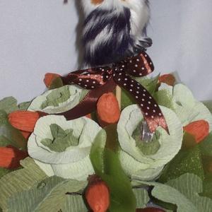 Csokicsokor- csészében , Csokor & Virágdísz, Dekoráció, Otthon & Lakás, Papírművészet, Virágkötés, Mit lehet adni egy ballagó leendő erdésztanulónak? Hát persze, hogy valami természeteset! Csokicsoko..., Meska