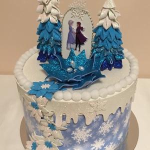 Jégvarázs születésnapi torta gyerekeknek, Játék & Gyerek, Babalátogató ajándékcsomag, Papírművészet, Mindenmás, Kislányok születésnapjára, névnapjára, babazsúrra, babalátogató ajándékok  csomagolására, ovis szüli..., Meska
