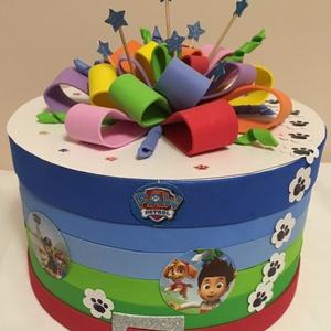 Mancs őrjárat - kínáló torta gyerekeknek, Játék & Gyerek, Babalátogató ajándékcsomag, Mindenmás, Kisfiúk születésnapjára, névnapjára, babazsúrra, babalátogató ajándékok csomagolására, ovis szülinap..., Meska