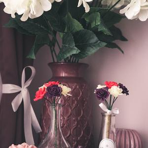 Kézzel készített örökcsokor, Esküvő, Esküvői csokor, Esküvői dekoráció, Otthon & lakás, Dekoráció, Csokor, Virágkötés, Szobrászat, bloomka - Kézzel készült virágok, csokrok és boxok.\n\nKb. 12 cm átmérőjű és 6 szálból álló csokor.\nTe..., Meska