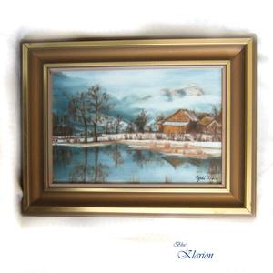 Köd a hegyekben eredeti olajfestmény (blueklarion) - Meska.hu