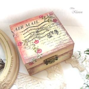 Vintage dobozka (blueklarion) - Meska.hu