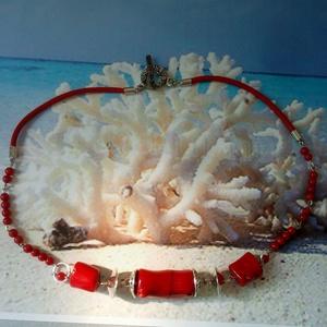 Korall ásvány nyaklánc , ásványgyöngy (blueklarion) - Meska.hu