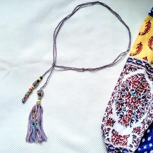 Cukorka horgolt, színes gyöngyös nyaklánc (blueklarion) - Meska.hu