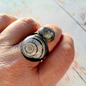 Csigabiga különleges gyanta gyűrű (blueklarion) - Meska.hu