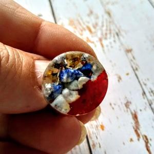 Orgonit önbizalom amazonit, hegyi kristály és lapis lazuli ásvány gyűrű (blueklarion) - Meska.hu