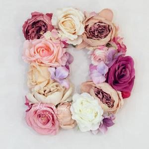 Vintage selyemvirágos kopogtató betű és szám esküvőre, fotózásra (bluer) - Meska.hu