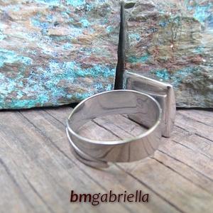 Égablak - nemesacél foglalatos tűzzománc gyűrű (bmgabriella) - Meska.hu