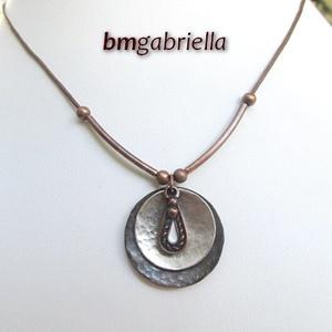 Harmónia - egyedi tervezésű medál - kézműves ékszer, Ékszer, Medálos nyaklánc, Nyaklánc, Fémmegmunkálás, Ötvös, Meska