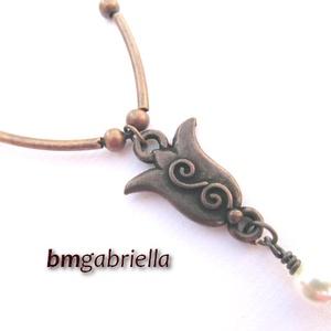 Termő tulipános - kézműves medál, nyaklánc (bmgabriella) - Meska.hu