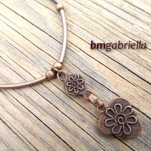 Sabina nyakéke - egyedi tervezésű kézműves ékszer türkiz gyönggyel (bmgabriella) - Meska.hu