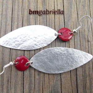 Kézműves fülbevaló - tűzzománc és ezüstözött fülbevaló (bmgabriella) - Meska.hu
