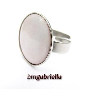Tűzzománc gyűrű - egyedi tervezésű nemesacél kézműves gyűrű - állítható, modern gyűrű - orvosi fém, Ékszer, Gyűrű, Kerek gyűrű, Ékszerkészítés, Tűzzománc, Meska