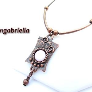 Kleopátra nyakéke - tűzzománc medál, nyaklánc - egyedi tervezésű kézműves ékszer, Ékszer, Nyaklánc, Medálos nyaklánc, Ékszerkészítés, Tűzzománc, Meska