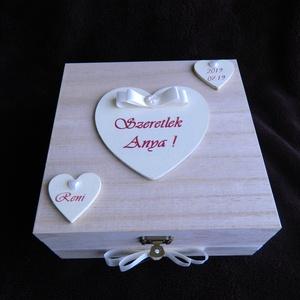 Szülőköszöntő doboz egyedi felirattal  (BoArtDekor) - Meska.hu
