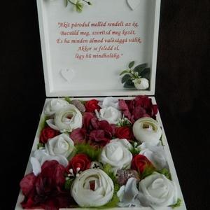 Pénzátadó doboz esküvőre, Esküvő, Nagy napra ne csak sima borítékba kerüljenek a bankók, ajándékozz esküvői emlékdobozt! 20x20 cm-es, ..., Meska