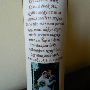 Fényképes emléküveg házassági évfordulóra, egyéb alkalomra (BoArtDekor) - Meska.hu