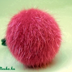 Rózsaszín szőrmés gyűrű (bobe40) - Meska.hu