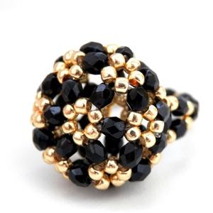 Fekete arany gyűrű, Ékszer, Gyűrű, Kerek gyűrű, Ékszerkészítés, Meska