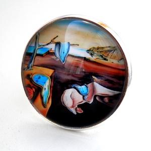 Dali üveglencsés gyűrű, Ékszer, Gyűrű, Üveglencsés gyűrű, Ékszerkészítés, Meska