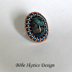 Paula gyűrű, Ékszer, Statement gyűrű, Gyűrű, Ékszerkészítés, Hímzés, Meska