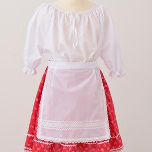 Kislány blúz, fehér blúz, néptáncos blúz (Bobike33) - Meska.hu