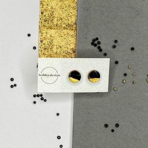 Night shadow fülbevaló No1, Ékszer, Fülbevaló, Pötty fülbevaló, A Night Shadow kollekció a mindig elegáns fekete és arany pároson alapszik. Ez a két klasszikus szín..., Meska