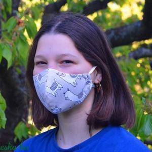 Szűrőbetétes szájmaszk, #126 többféle méretben szájmaszk, női szájmaszk, kamasz szájmaszk, pamut szájmaszk, szájmaszk, Női, Maszk, Arcmaszk, Varrás,                                                                                                     ..., Meska