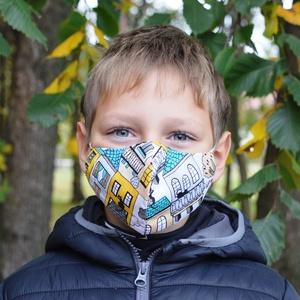 Szűrőbetétes maszk, #174 többféle méretben maszk, kétrétegű maszk, gyerek maszk, mosható maszk, pamut maszk,gumis maszk, Maszk, Arcmaszk, Szűrőbetétes, Varrás,                                                                                                     ..., Meska